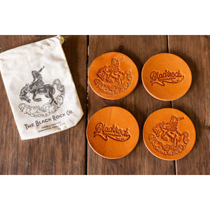 Blackrock leather coaster