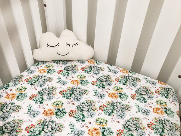 Cotton Fitted Cot Sheet