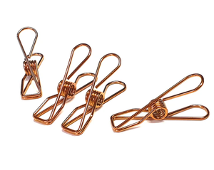 Rose Gold Stainless Steel Pegs (20pk)