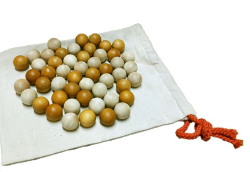 Two Toned Wooden Balls (50 set)
