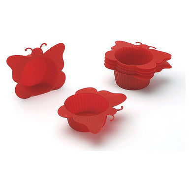Muffin Tray Silicone Butterfly (6 pcs)