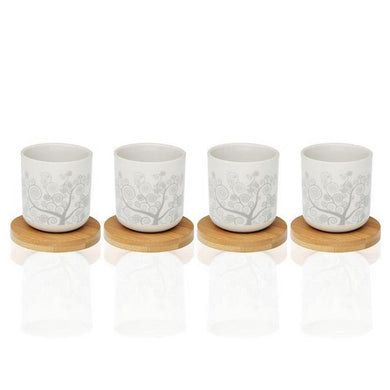 Piece Coffee Cup Set Revery Bamboo Porcelain (4 pcs)