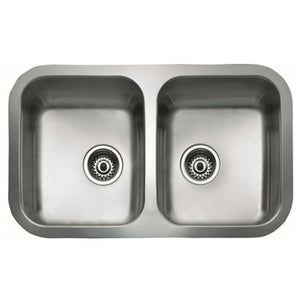 Sink with Two Basins Teka BE 2C 780 Stainless steel