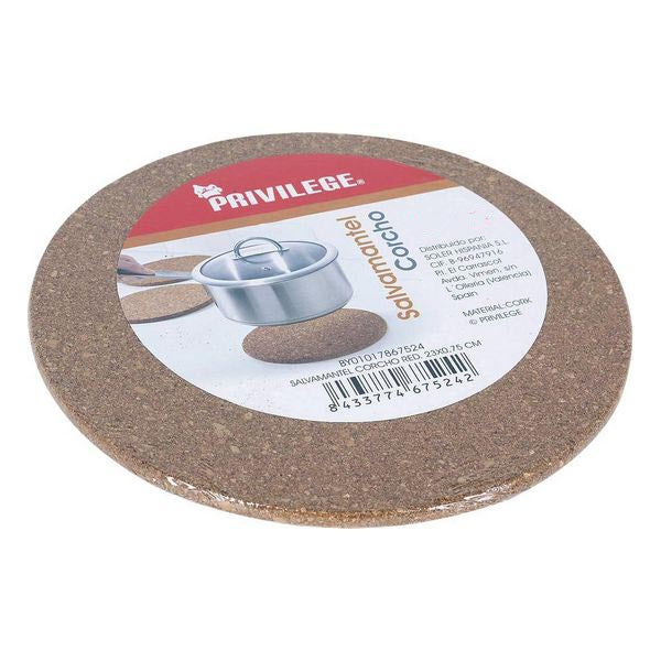 Table Mat Quttin Cork Circular Brown