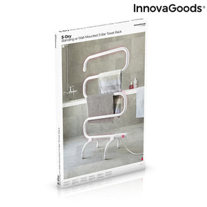 Electric Wall or Floor Towel Rail S-dry InnovaGoods (5 Bars) 100W