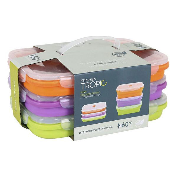 Set of 3 lunch boxes Kitchen Tropic (3 uds)