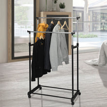 Load image into Gallery viewer, Coat Stand with Wheels Solutions 2 Bars