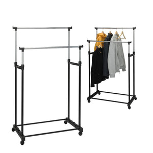 Coat Stand with Wheels Solutions 2 Bars