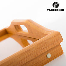 Load image into Gallery viewer, TakeTokio Bamboo Tray with Legs