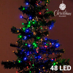 Multi-coloured Christmas Lights (48 LED)