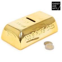 Load image into Gallery viewer, Gold Bar Ceramic Money Box