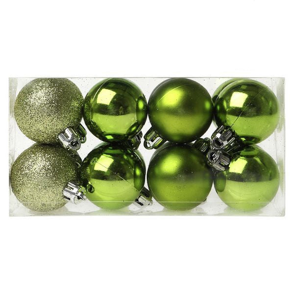 Christmas Baubles Christmas Planet 6479 4 cm (16 uds) Green