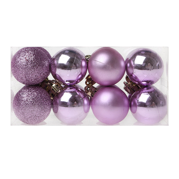 Christmas Baubles Christmas Planet 6721 4 cm (16 uds) Purple