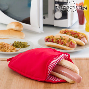 Always Fresh Kitchen Microwave Hot Dog Cooking Bag