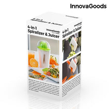 Load image into Gallery viewer, InnovaGoods 4-in-1 Spiralizer & Juicer with Recipe Book