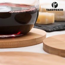 Load image into Gallery viewer, TakeTokio Set of Bamboo Coasters (pack of 4)