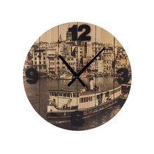 Load image into Gallery viewer, Vintage Coconut Cities Wall Clock
