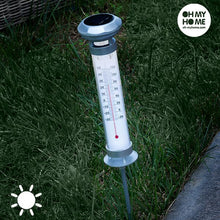 Load image into Gallery viewer, Oh My Home Solar Thermometer Lamp