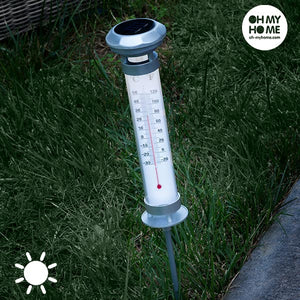 Oh My Home Solar Thermometer Lamp