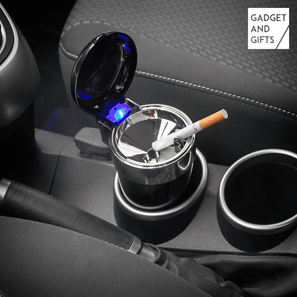 Gadget and Gifts LED Car Ashtray with Lid
