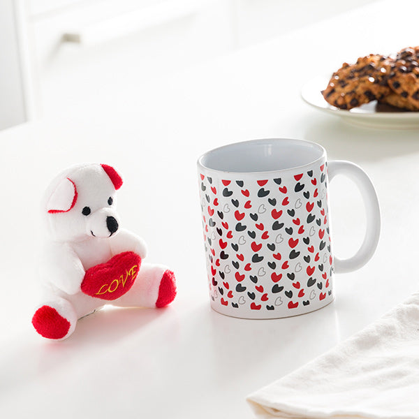 Love Mug with Hearts and Little Bear