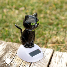 Load image into Gallery viewer, Solar Black Cat with Movement
