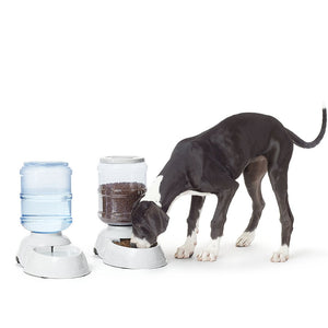 Automatic Dog And Cat Feeder L, Gravity Dog Food Dispenser, Pet Feeder And Automatic Drinkers
