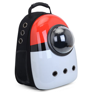 Cute portable space capsule pet backpack