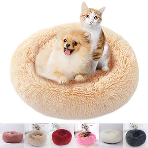 Hot Pet Dog Cat Soothing Round Bed Warm Nest Soft Plush Comfortable Winter Sleeping FQ-Ing