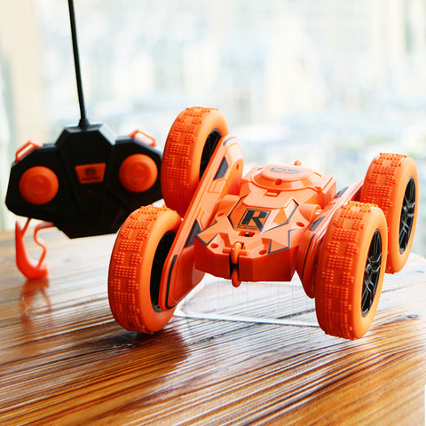 Double-sided tumbling children's electric toy car