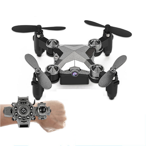 Watch folding mini aerial camera WIFI remote drone toy