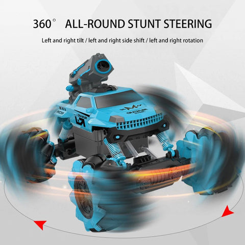 Cross-border new bubble function remote control car four-wheel drive horizontal climbing high-speed off-road drift car children's toy car
