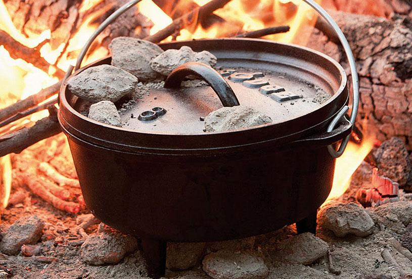 Camping cooking cookware for firepits bbqs and stoves