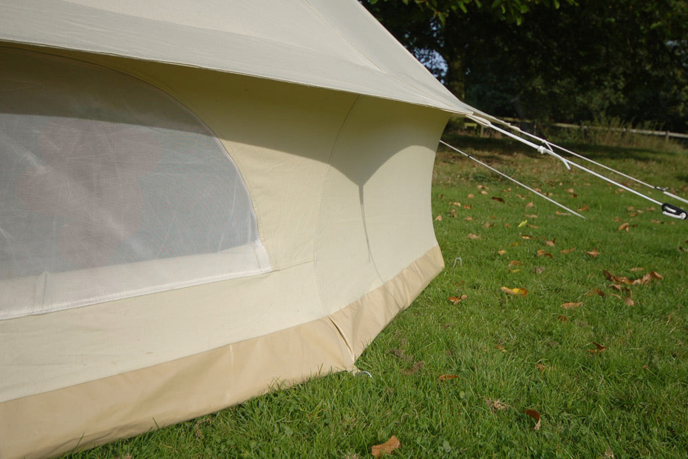 Deluxe bell tent with sewn in groundsheet