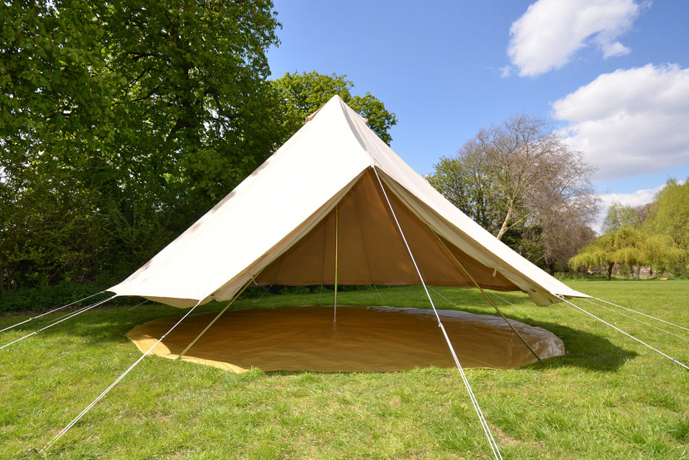Standard bell tent with separate groundsheet