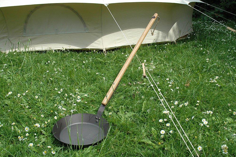 Campfire pan and bell tent