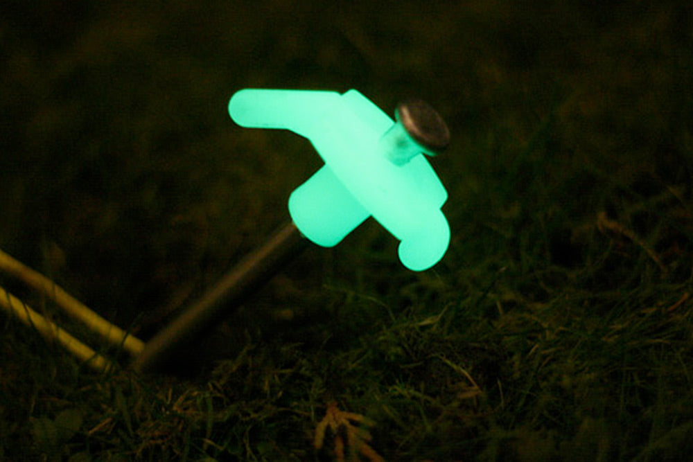 Glow in the dark peg and guy rope
