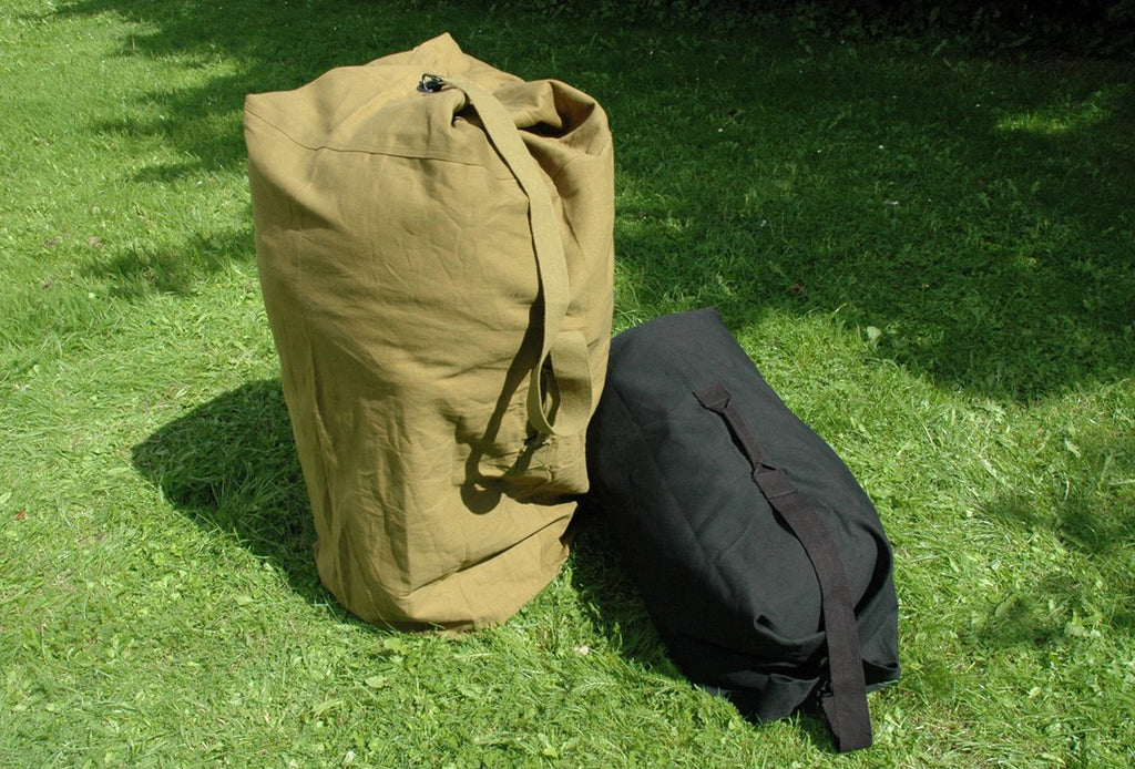 Heavy Duty Canvas Kit Bag 40 cm Diameter Olive