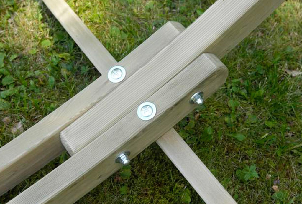 Footing of large wooden hammock stand Arc