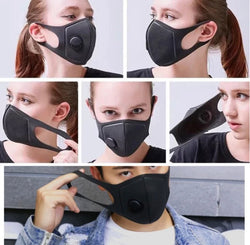 Washable Mask with Respirator Valve