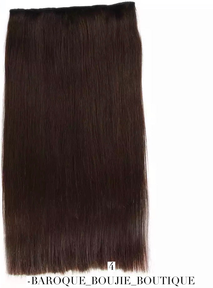 Straight Machine Made Remy European Flip Human Hair