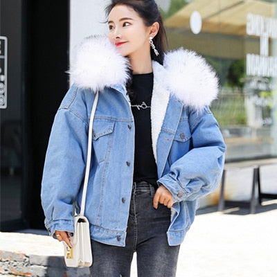 Cotton Liner Long Denim Jackets