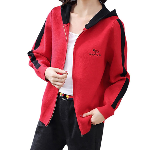 Women Fashion Casual Hooded Jacket