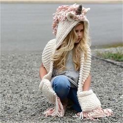 Girls Winter  Hat Scarf