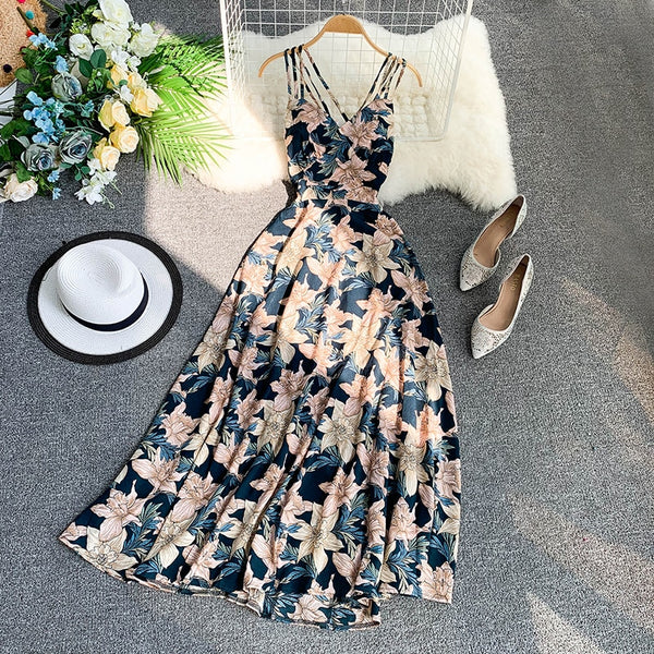 Women's stylish strap dress