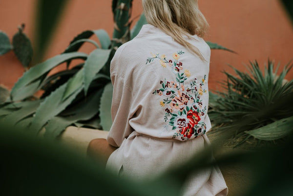 Le Voyage Kimono //  The Flower in Dusty Pink