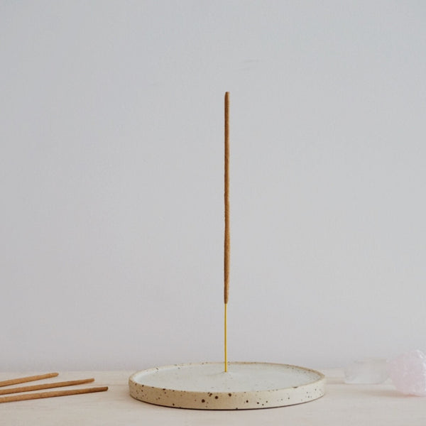 Incense holder - Shiny white