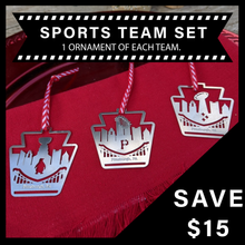Load image into Gallery viewer, PGH. TEAMS Ornament Set of 3