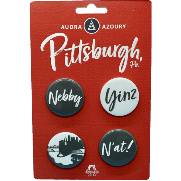 Pittsburgh Backpack Pin | Pittsburghese 4 Pack