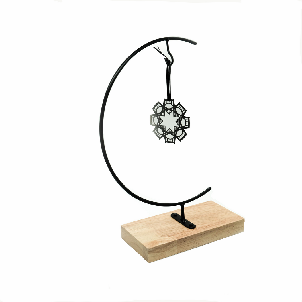 Wood & Metal Stand - 1 ornament
